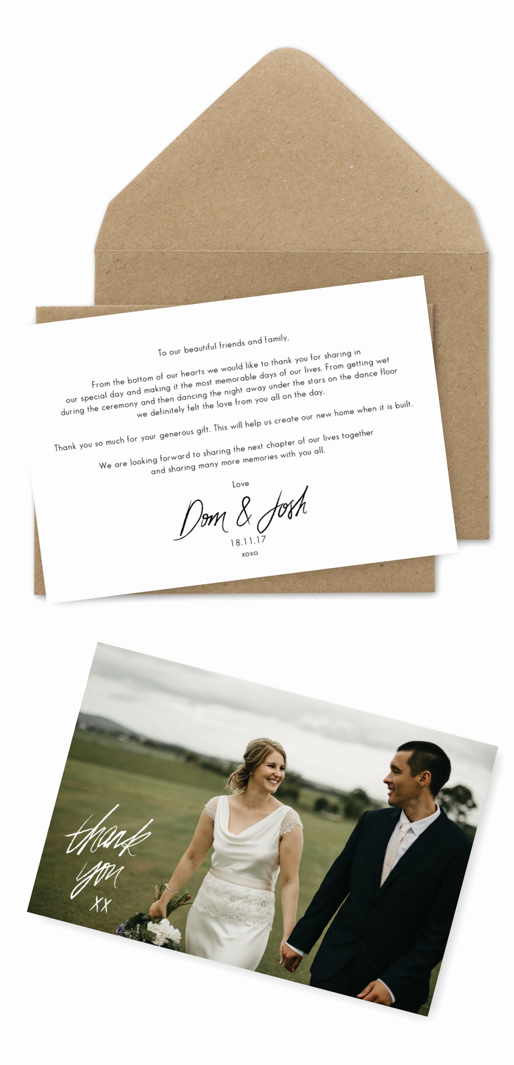 Wedding Thank You Note Template Inspirational 10 Wording Examples for Your Wedding Thank You Cards