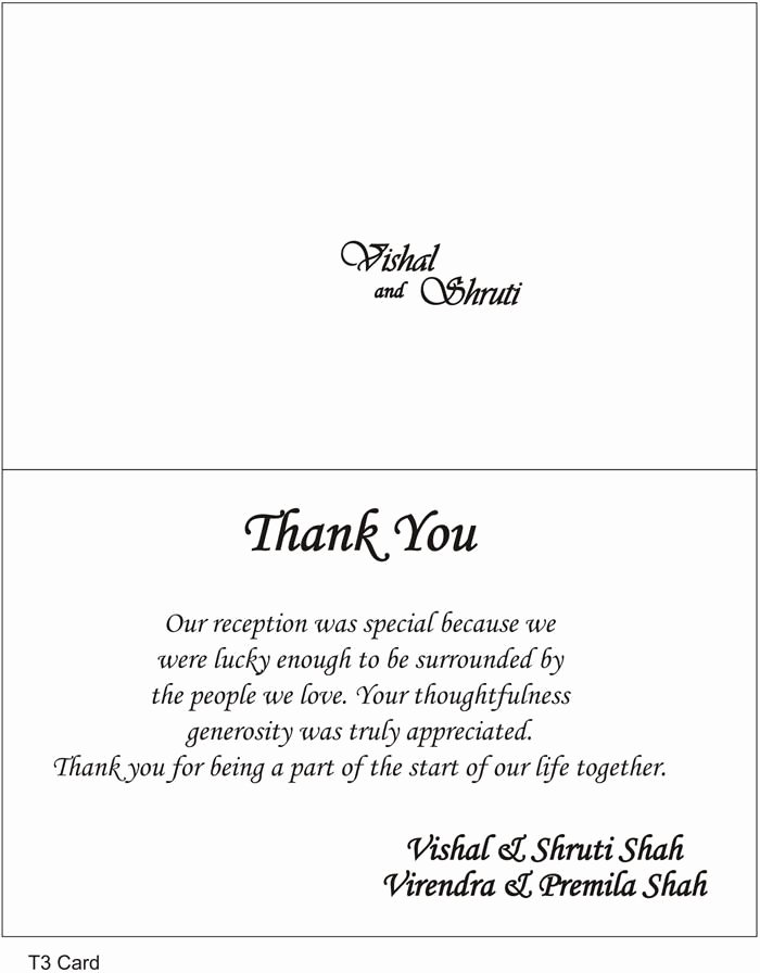 Wedding Thank You Note Template Luxury Thank You Cards Wedding Wording Google Search