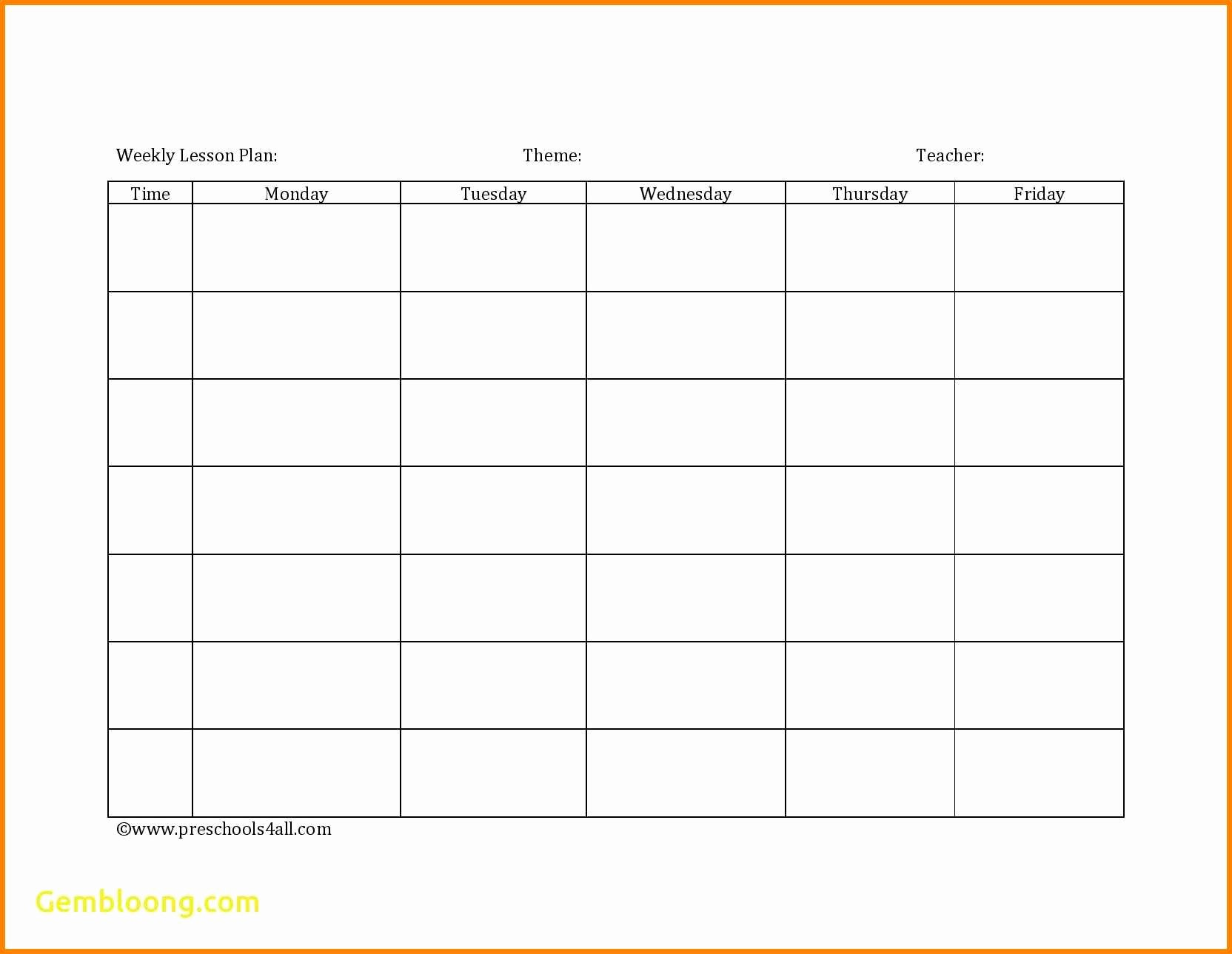 Weekly Lesson Plan Template Pdf Beautiful 7 Editable Weekly Lesson Plan Template