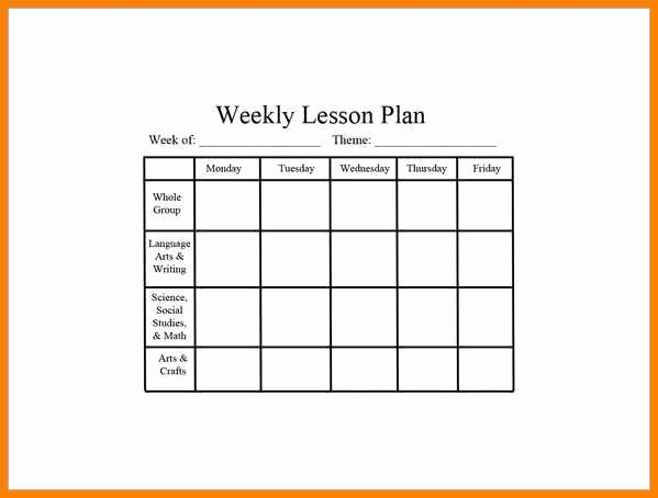 Weekly Lesson Plan Template Pdf Lovely 7 Editable Weekly Lesson Plan Template