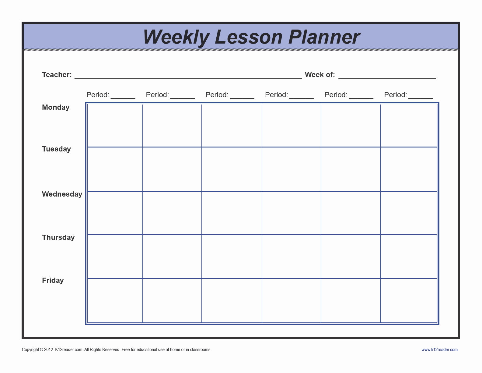 Weekly Lesson Plan Template Pdf New Download Weekly Lesson Plan Template Preschool