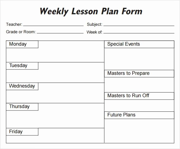 Weekly Lesson Plan Template Pdf New Weekly Lesson Plan 8 Free Download for Word Excel Pdf
