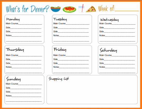 Weekly Meal Plan Template Awesome Meal Planning Templates On Pinterest