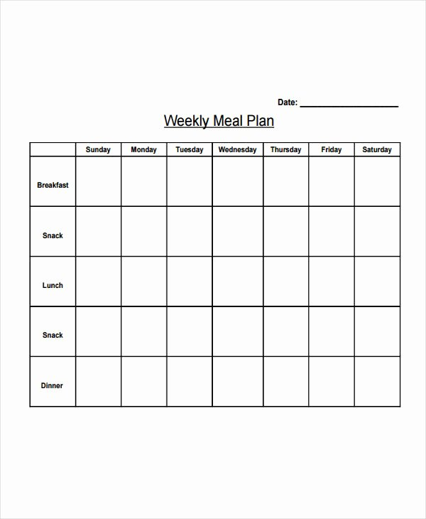 Weekly Meal Plan Template Beautiful 10 Diet Plan Templates Free Sample Example format