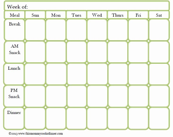 Weekly Meal Plan Template Beautiful Best 25 Meal Planning Templates Ideas On Pinterest