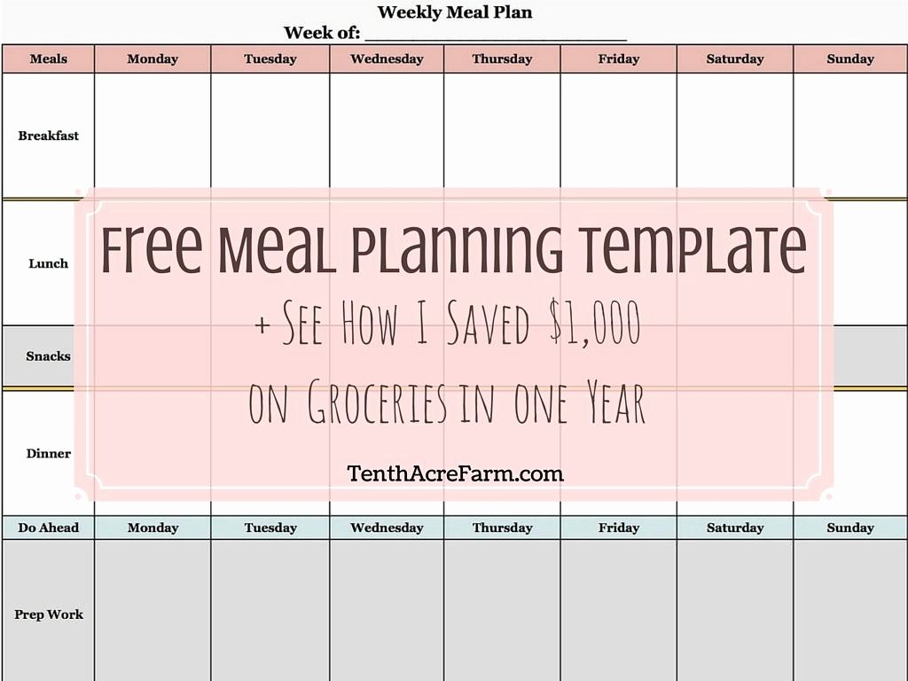 Weekly Meal Plan Template Beautiful Weekly Meal Planning Template See How I Saved $1 000 On