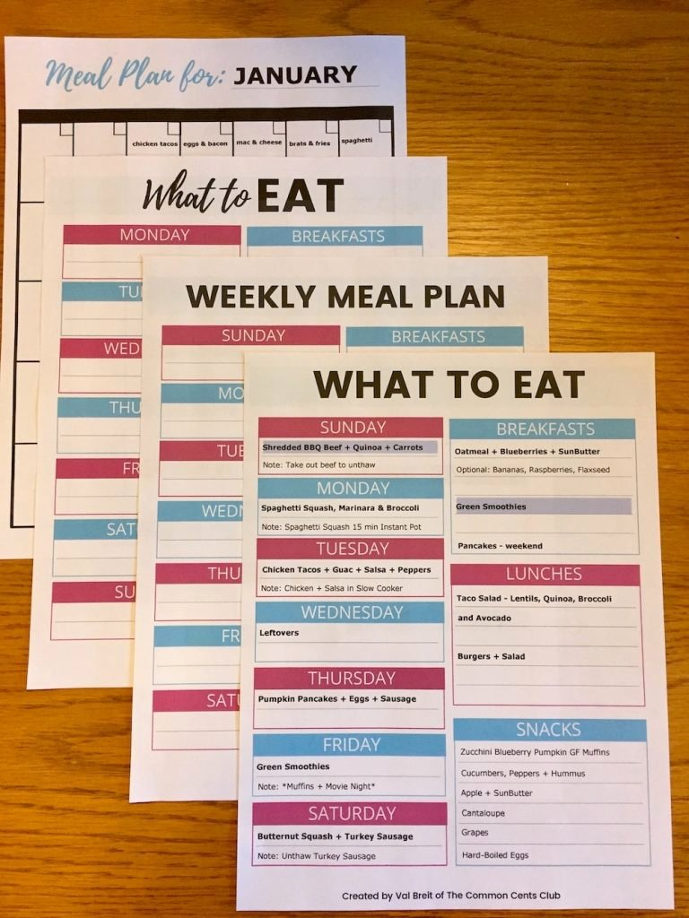Weekly Meal Plan Template Best Of Meal Planning Template to Save Money Eat Healthy and Plan
