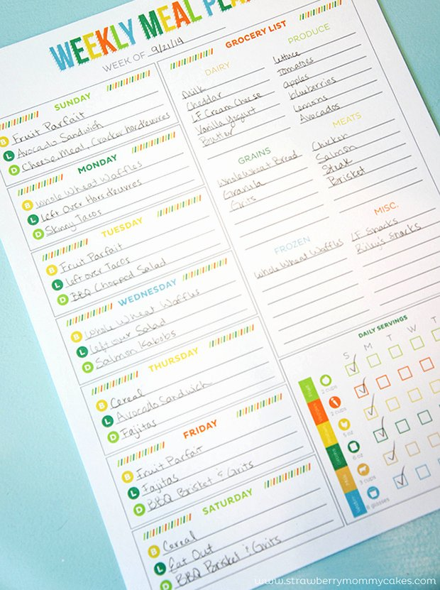 Weekly Meal Plan Template Elegant Printable Meal Planning Templates to Simplify Your Life