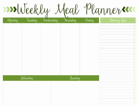 Weekly Meal Plan Template Elegant Printable Weekly Meal Planners Free