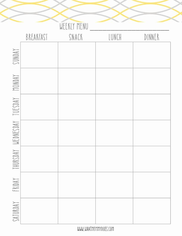 Weekly Meal Plan Template Fresh Free Printable Blue Meal Plan Template