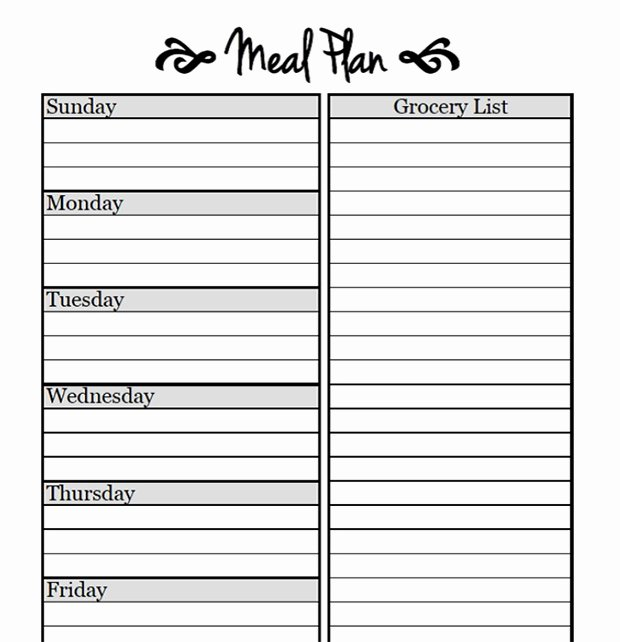 Weekly Meal Plan Template Fresh Printable Meal Planning Templates to Simplify Your Life