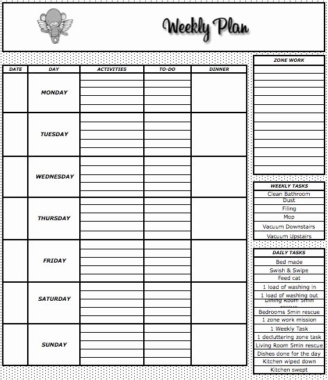 Weekly Meal Plan Template Fresh Weekly Meal Plan Template the Flying Drunken Monkey