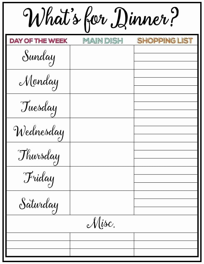 Weekly Meal Plan Template Luxury Weekly Meal Planner Week 7