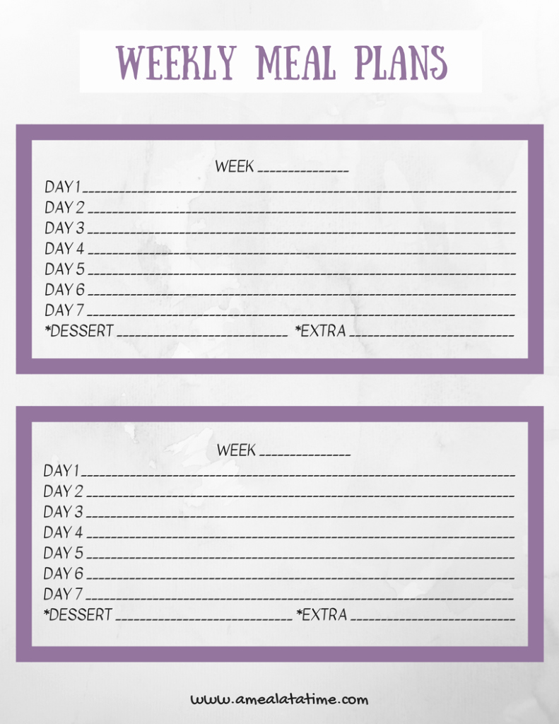 Weekly Meal Planning Template Awesome Weekly Meal Planning Template Free Printable