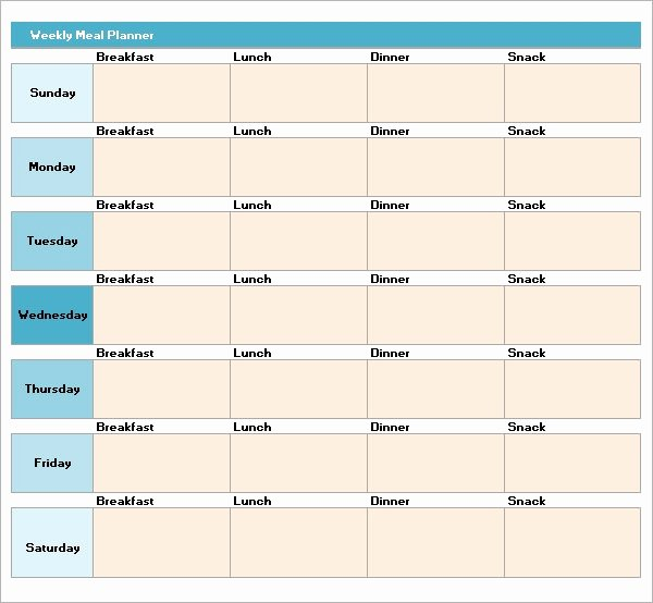 Weekly Meal Planning Template Beautiful Free 17 Meal Planning Templates In Pdf Excel