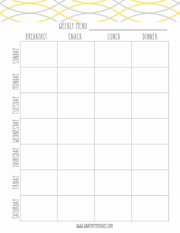 Weekly Meal Planning Template Best Of Free Printable Weekly Meal Planning Templates and A Week