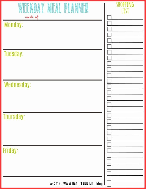 Weekly Meal Planning Template Lovely Free Meal Planner Food Tips & Healthy Eating
