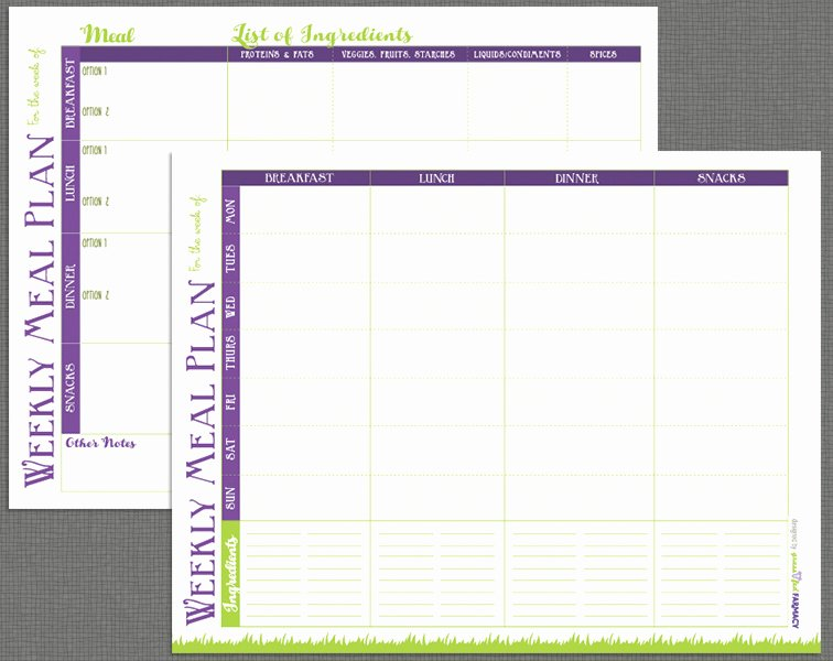 Weekly Meal Planning Template New Printable Meal Prep Templates and Meal Planning Tips