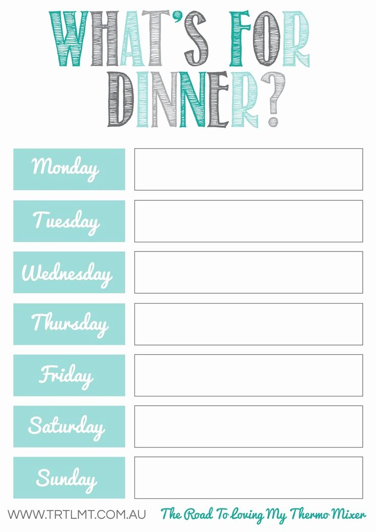 Weekly Meal Planning Template New What S for Dinner 2 Fb organization