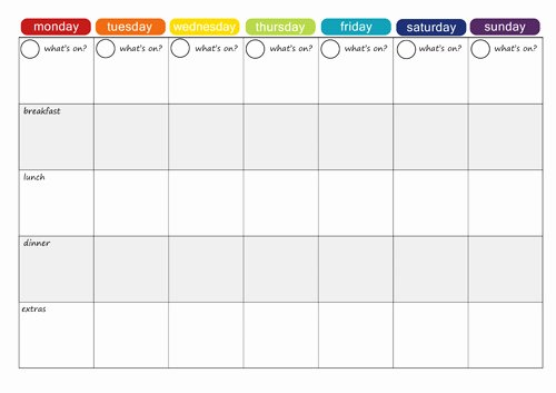 Weekly Meal Planning Template Unique More Free Printable Menu Plans Picklebums