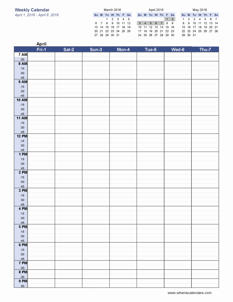 Weekly Planner Template Pdf Awesome 6 Week Blank Schedule Template Weekly Calendar Template