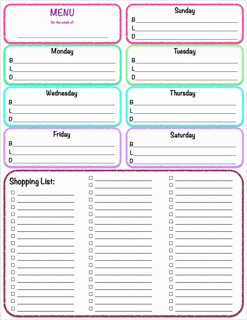 Weekly Planner Template Pdf Awesome Free Printables Weekly Meal Planner & Grocery List the