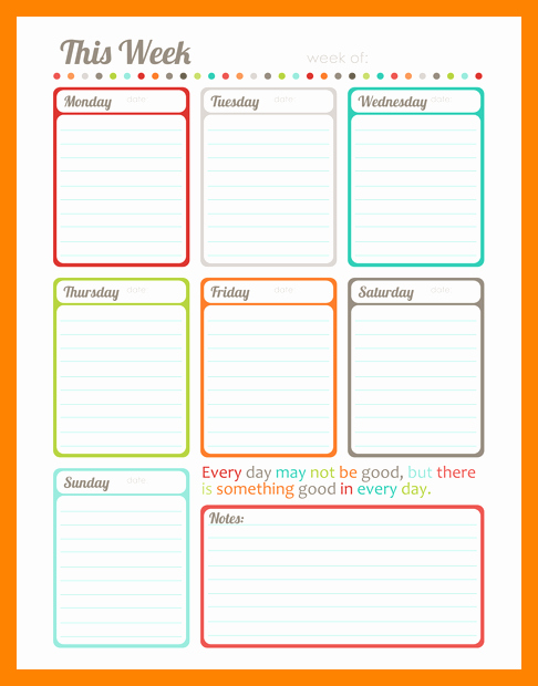 Weekly Planner Template Pdf Awesome Weekly Schedule Template Takvim Kalender Hd