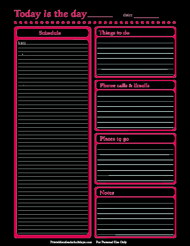 Weekly Planner Template Pdf Fresh Daily Planner Template Free Printable Daily Planner for