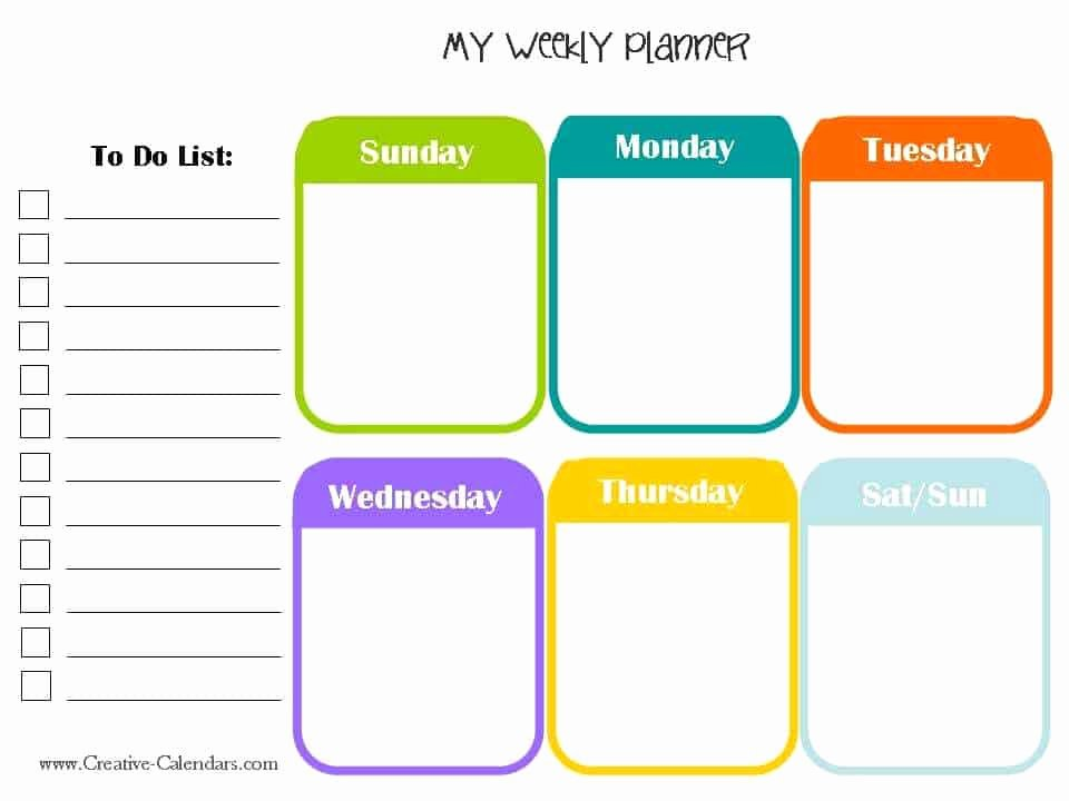Weekly Planner Template Pdf Luxury 10 Weekly Planner Templates Word Excel Pdf formats