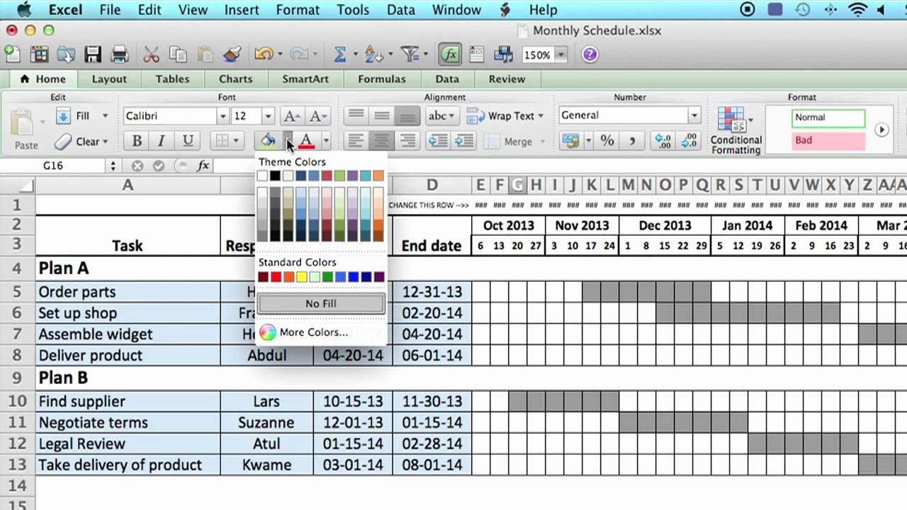 Weekly Schedule Templates Excel Beautiful How to Use A Monthly Schedule In Microsoft Excel Using