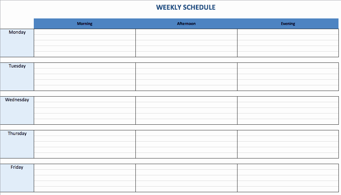 Weekly Schedule Templates Excel Best Of Free Excel Schedule Templates for Schedule Makers