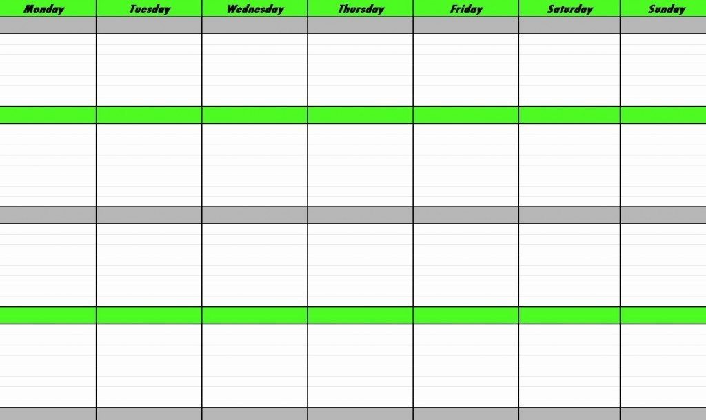 Weekly Schedule Templates Excel Elegant Weekly Schedule Template