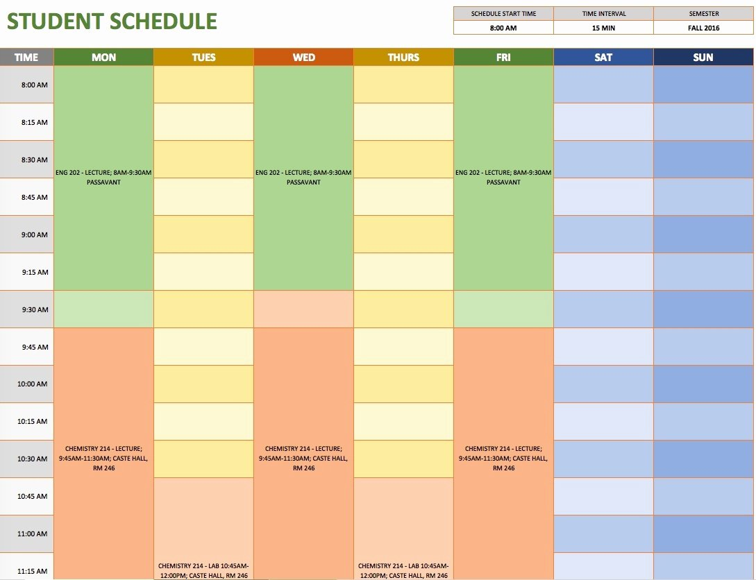 Weekly Schedule Templates Excel Fresh October 2018 – Page 4 – Template Calendar Design