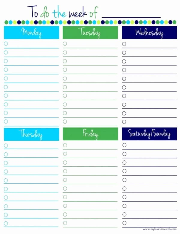 Weekly todo List Template Best Of Remodelaholic