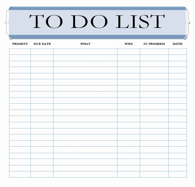 Weekly todo List Template Fresh 40 Printable to Do List Templates