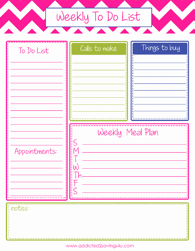 Weekly todo List Template Unique Weekly to Do List Planner Printable A Spark Of Creativity