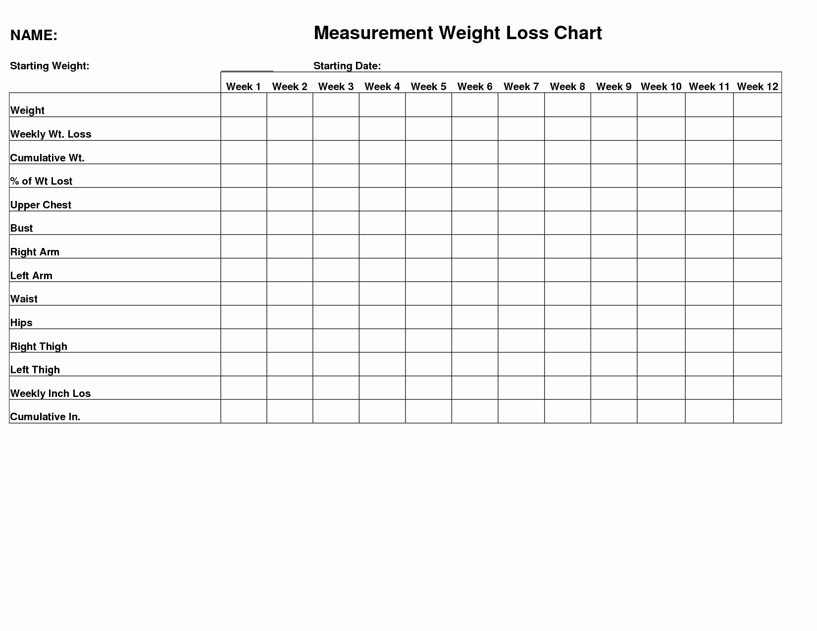 Weight Loss Measurement Chart Beautiful Female Weight Measurement Body Silhouette Outline