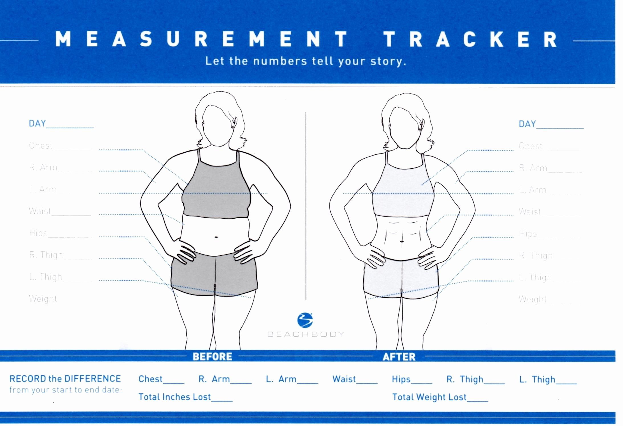 Weight Loss Measurement Chart Lovely Measurement Tracker Live Your Best Life