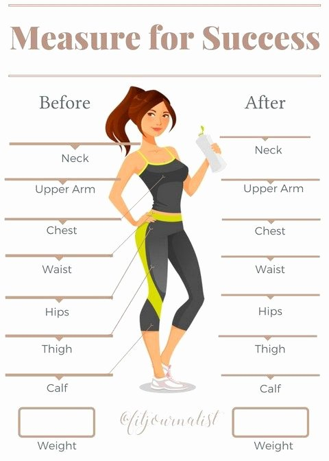 Weight Loss Measurement Chart New Measurement Tracker Health and Fitness
