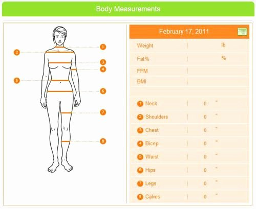 Weight Loss Measurement Chart New where to Measure for Weight and Fat Loss