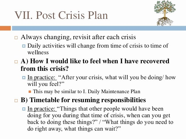 Wellness Recovery Action Plan Pdf Awesome Wellness Recovery Action Plan