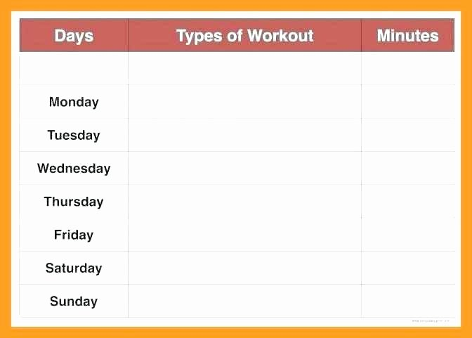 Work Out Schedule Templates Beautiful Weekly Workout Schedule Template Exercise Plan Excel