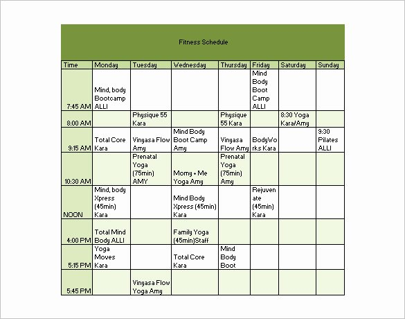 Work Out Schedule Templates Best Of 24 Workout Schedule Templates Pdf Docs