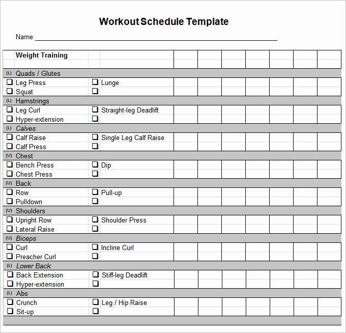 Work Out Schedule Templates Best Of Workout Schedule Template 27 Free Word Excel Pdf