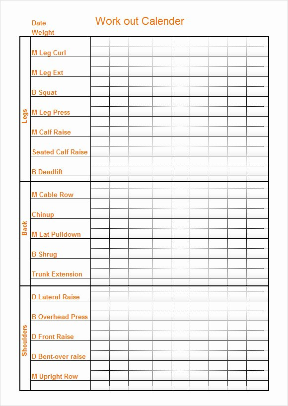 Work Out Schedule Templates Elegant 10 Sample Workout Calendar Templates In Pdf
