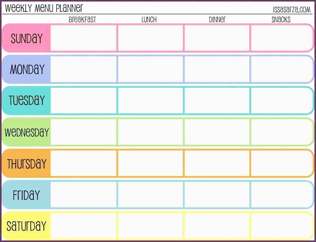 Work Out Schedule Templates Elegant Weekly Workout Schedule Template