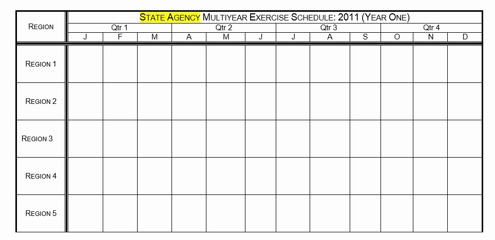 Work Out Schedule Templates Fresh 8 Free Sample Exercise Schedule Templates Printable Samples