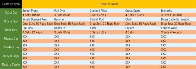 Work Out Schedule Templates Luxury 7 Printable Workout Log Templates to Track Your Progress