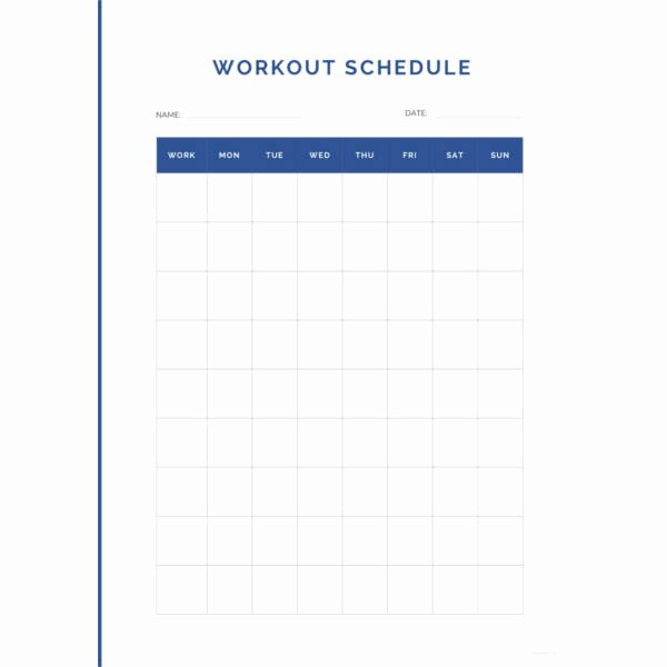 Work Out Schedule Templates New 22 Workout Schedule Templates Pdf Doc