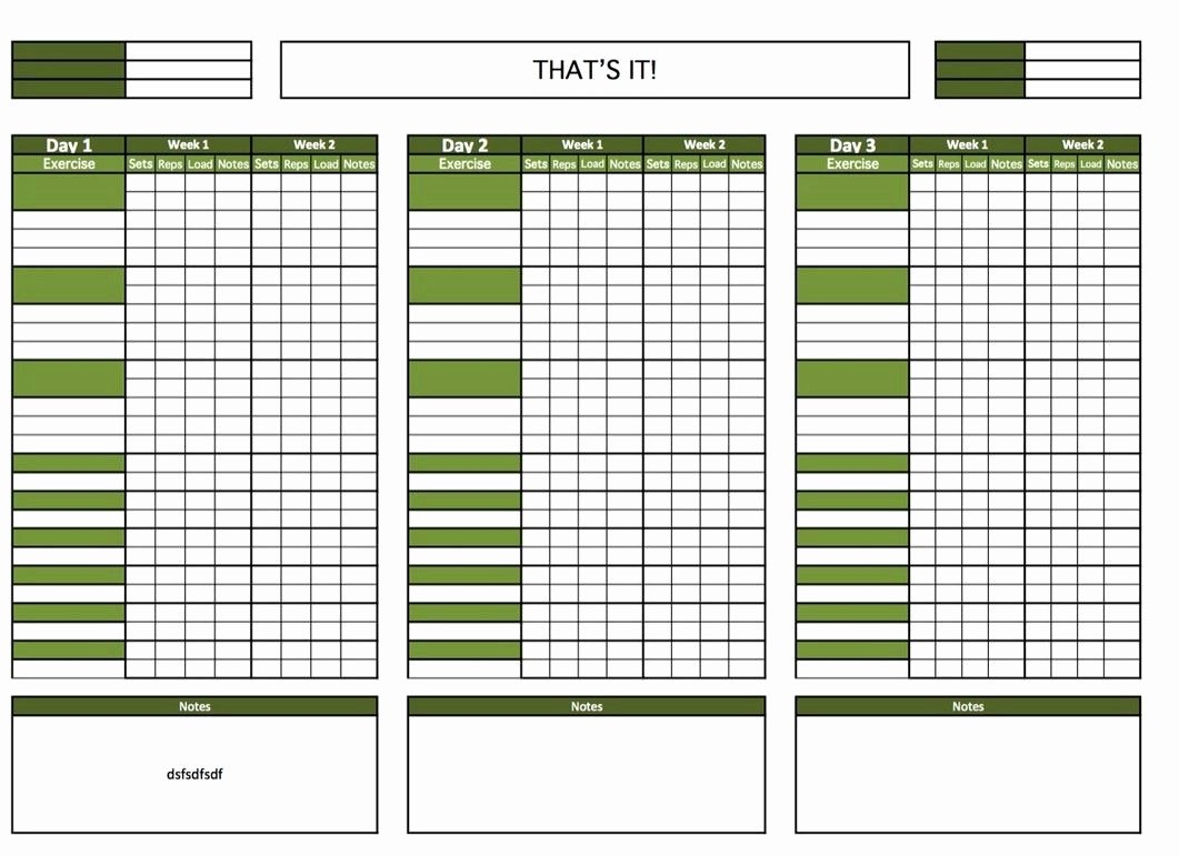 Work Out Schedule Templates New Blank Printable Workout Calendar Template 4